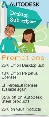 Save upto 25% on Autodesk desktop Subscription and 10% on Autodesk Perpetual Licenses with Multi-year subscription